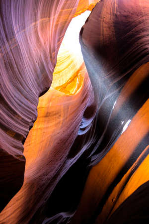 Play of light in Upper Antelope Canyon
