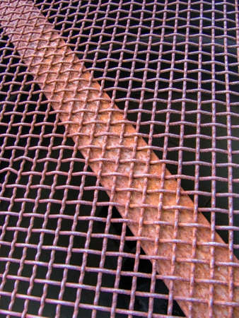 Braided steel mesh in the disused industrial area