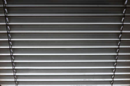 Closed slats of a window shutter