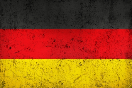 Grunge Dirty and weathered German Flag, Old Metall Textured photo
