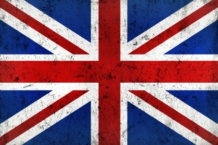 drapeau angleterre: Grunge sale et Weathered drapeau britannique, le Vieux-Metall texturé Banque d'images