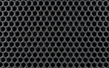 Abstract Steel or Metal Textured Pattern with Hexagonal Cells As Industrial Background photo