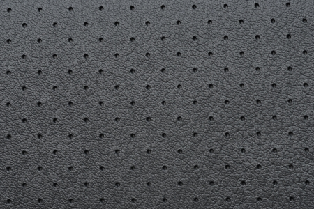 Black Perforated Leather or Skin Texture as Wallpaper or Background photo