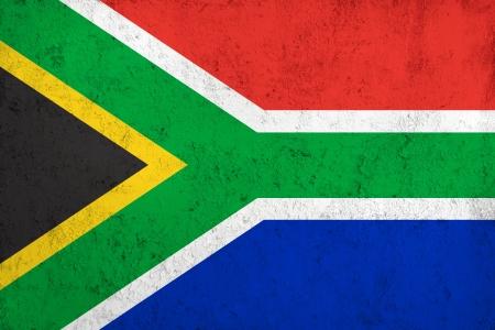 �south: Grunge sporca e Weathered Bandiera del Sud Africa, Metallo Vecchio Tessuto