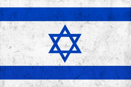 Grunge Dirty and Weathered Israeli Flag, Old Metal Textured photo