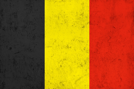 frazzled: Grunge Dirty and Weathered Belgian Flag, Old Metal Textured