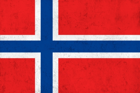 frazzled: Grunge Dirty and Weathered Norwegian Flag, Old Metal Textured
