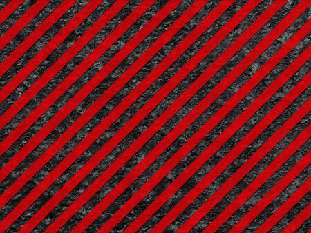 Grunge Black and Red Surface as Warning or Danger Pattern, Old Metal Textured photo