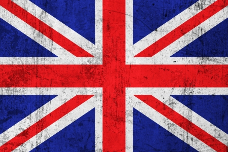 frazzled: Grunge Dirty and Weathered British Flag, Old Metal Textured