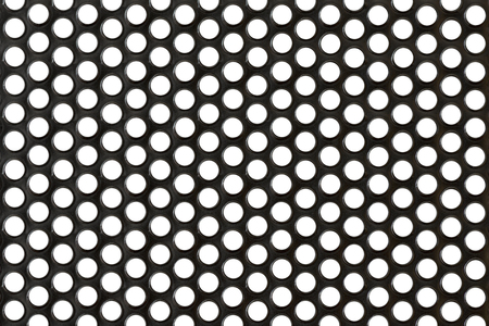 Abstract Steel or Metal Textured Pattern with Round Cells As Industrial Background photo