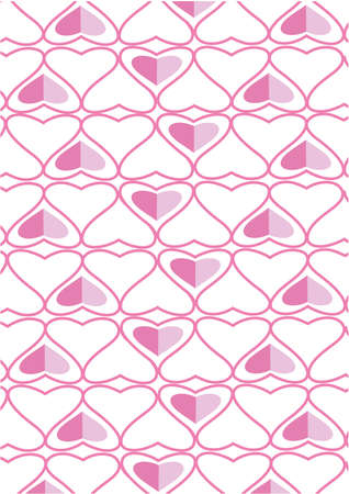 The background made from hearts.  Stock Vector - 12479982