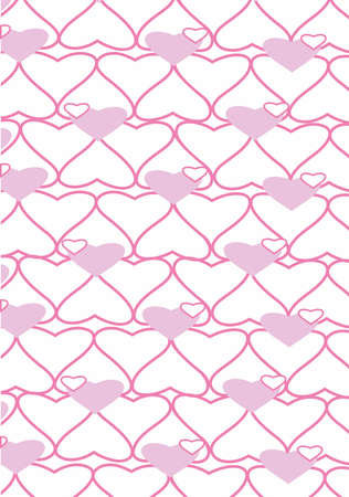 The background made from hearts.  Vector