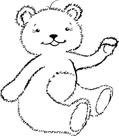The little bear-cup happy to see you Illustration