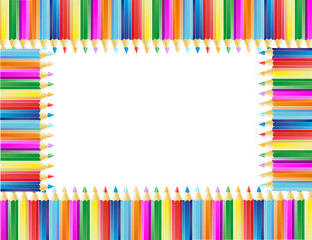 The frame from pencils, background for decorate Stock Vector - 13879425