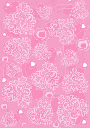 The background for using birthday, Valentain�s day, holidays Illustration