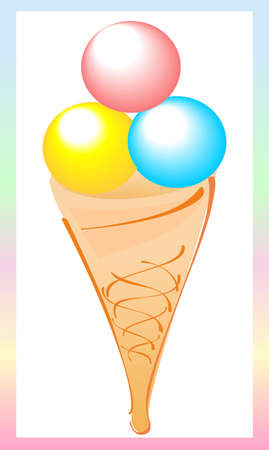 This icon of ice cream is for advertising Vector