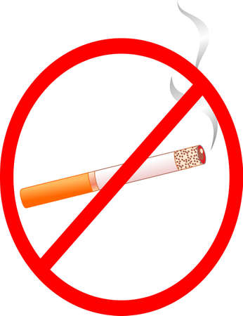 This is sign for prohibition of smoking Vector
