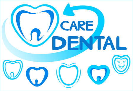 Logotypes, icons  for dentists Illustration