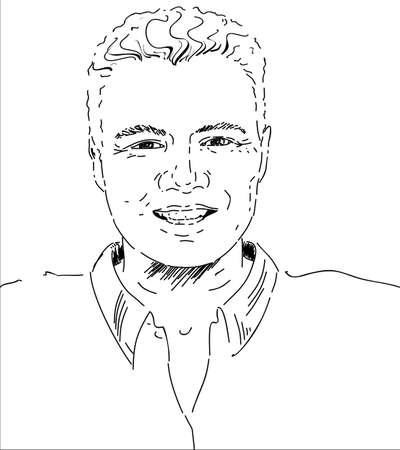 had: The handsome man had been created  Illustration