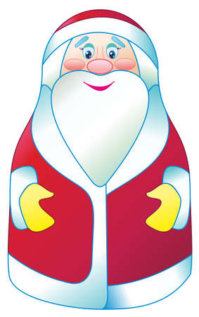 The kind Santa Claus in a vector