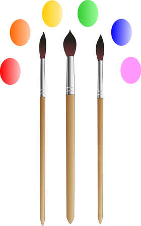 The three brushes of different sizes for drawing Illustration