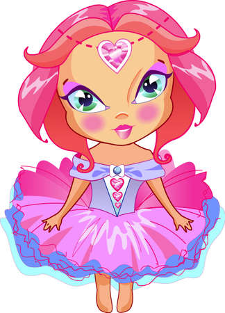 The cute girl can be princess too