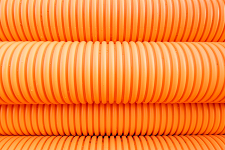 Orange pipes Stock Photo