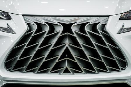 Powerful radiator grille SUV.