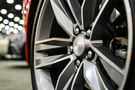 Close up of rims from a sports car Reklamní fotografie