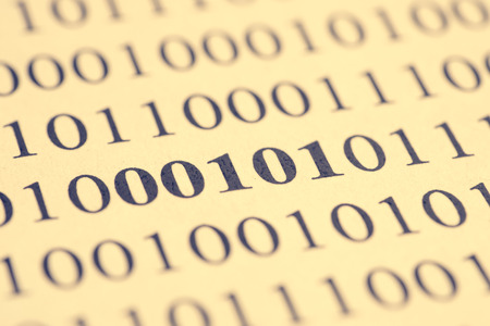 Concept of decoding computer binary code.