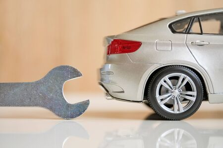 The concept of a comprehensive car body repair. Close up.