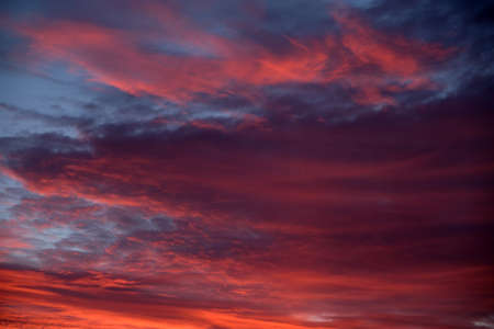 An abstract sky with thick bloody clouds. Banque d'images