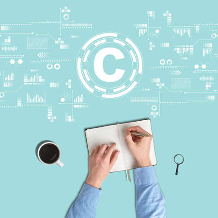 Copyright concept in the field of writers.