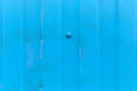Metallic siding as a blue background. Close up Banque d'images