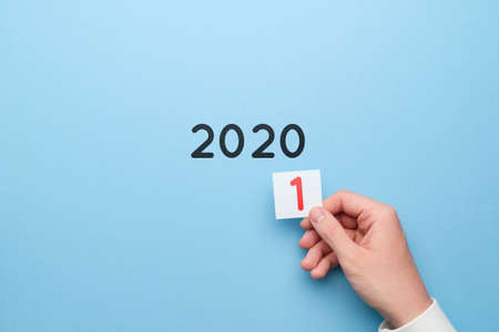 Concept of changes of the year from 2020 to 2021. Banque d'images