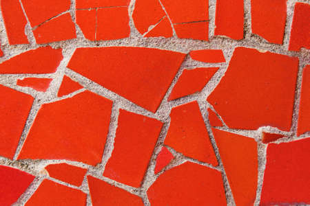 Texture and background of red mosaic. Close up Standard-Bild