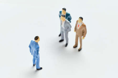 The concept of selecting candidates for work among people. Stockfoto