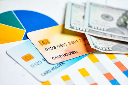 Credit Cards Growth Concept with Banking Products Demand.