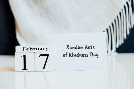 Random Acts of Kindness Day of winter month calendar february.
