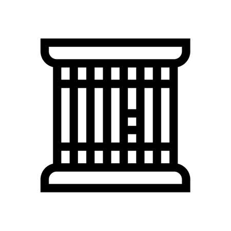 Prison outline icon isolated on white background 일러스트