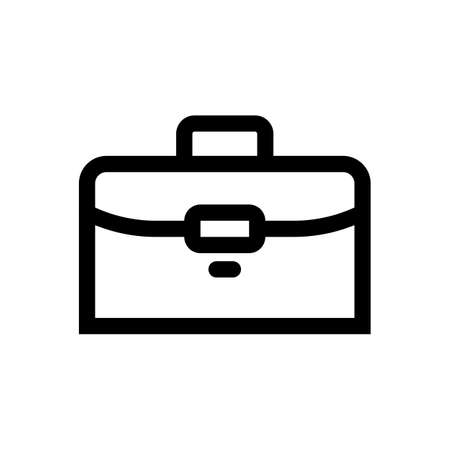 Briefcase outline icon isolated on white background 일러스트