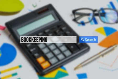 bookkeeping in the search bar on the background calculator with graphs.