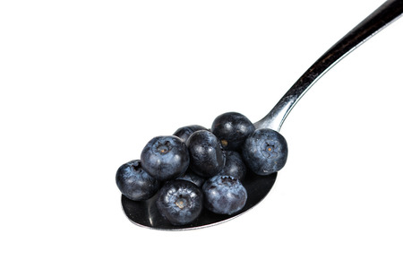 Blueberries in spoon 版權商用圖片