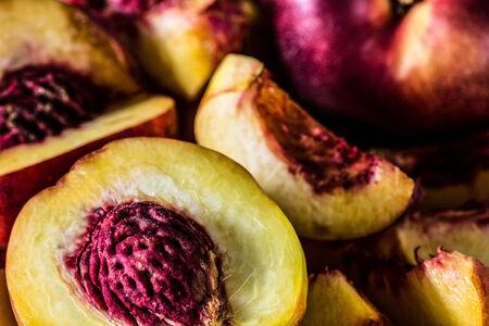 桃のクローズ アップ 写真素材