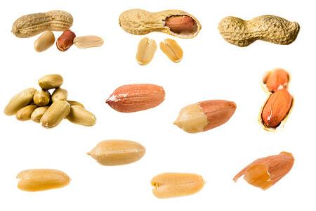 Set van pinda's geïsoleerd