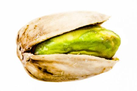 Pistachio isolated close-up Foto de archivo