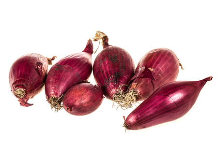 red onions: Bunch of red onions