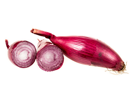 red onions: Red onions sliced isolated on white