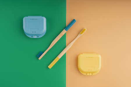Wooden toothbrushes and orthodontic cases
