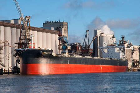 Hamburg Germany - December 16. 2017: Bulk carrier Brenda in port Editorial